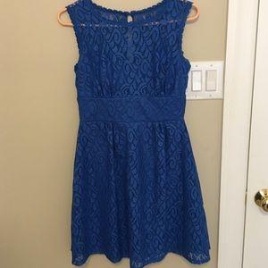 Royal blue lace tea party dress